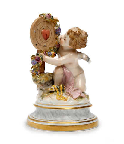 A Meissen porcelain figure of cupid  Circa 1900