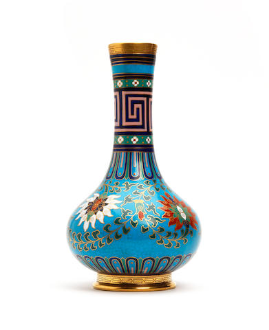 A Minton cloisonné vase, attributed to Christopher Dresser Circa 1870