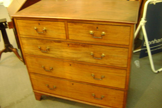 A 19th century mahogany straight front chest of drawers