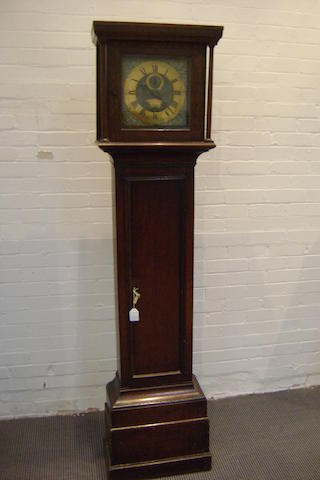 An 18th Century thirty hour oak longcase clock,