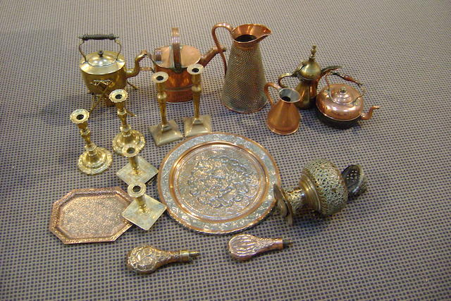 Collective brass and copper wares