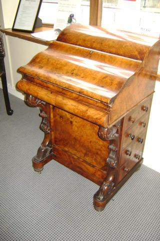 A Victorian Walnut davenport