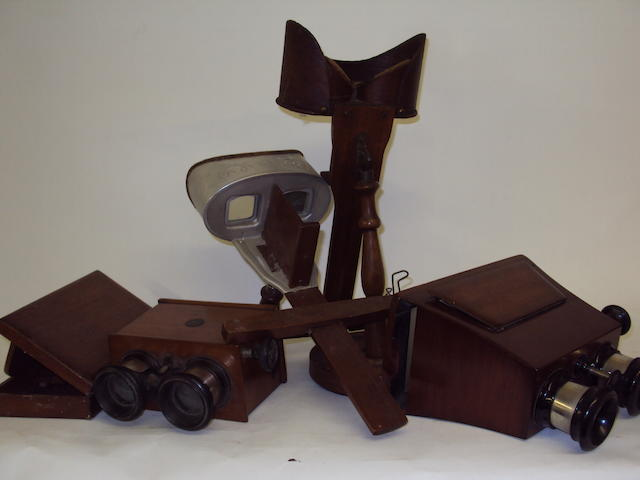 A small collection of stereoscopic viewers