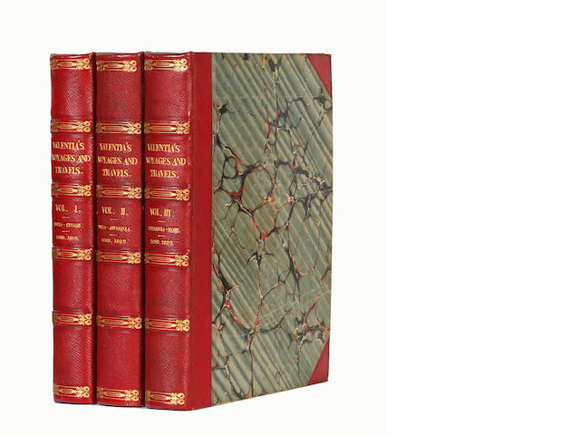 ANNESLEY (GEORGE, Viscount Valentia) Voyages and Travels to India, Ceylon and the Red Sea, Abyssinia, and Egypt, 3 vol., FIRST EDITION, 1809