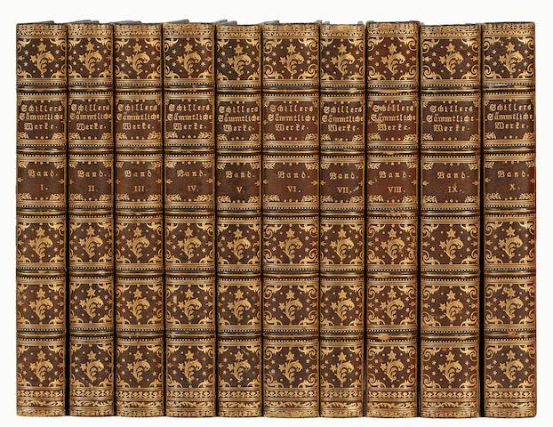 BINDINGS SCHILLER (FRIEDRICH VON) Werke, 10 vol., 1844