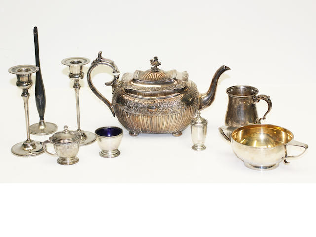 Assorted silver and electro-plated items,