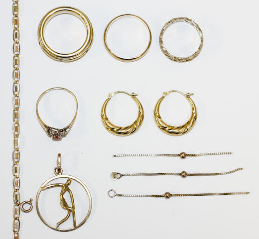 A small collection of jewellery,