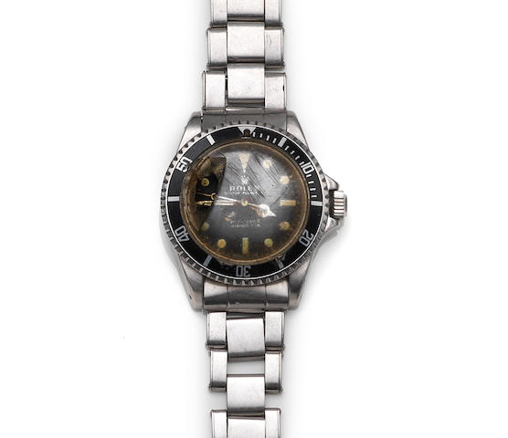 Rolex. A stainless steel automatic bracelet watch (AF)Submariner, Ref:5513, Case No.2253292, Circa 1969