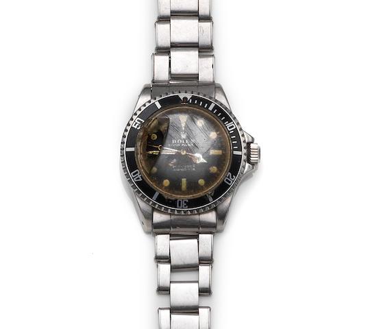 Rolex. A stainless steel bracelet watch (AF) Submariner, Ref:5513, Case No.2253292, Circa 1969