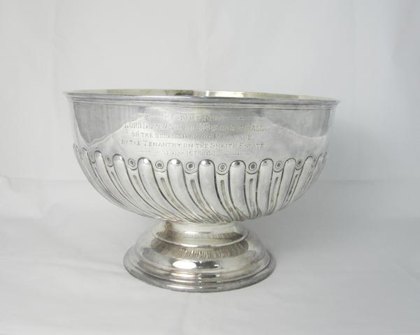 A Victorian silver presentation bowl  by Walker & Hall, Sheffield 1896
