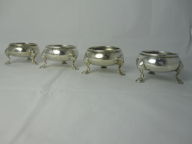 A set of four George II cauldron salts  By Richard Pargeter, London, circa 1734   (4)