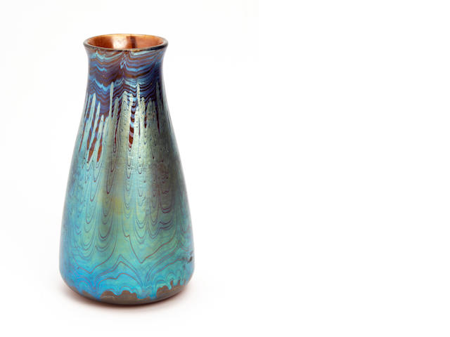 A Loetz iridescent glass  Circa 1900-1910