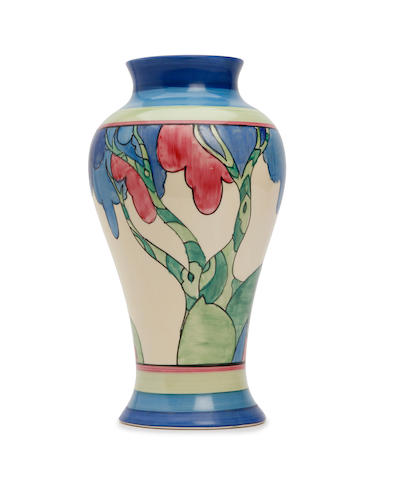A Clarice Cliff 'Rudyard' pattern Meiping vase Circa 1933