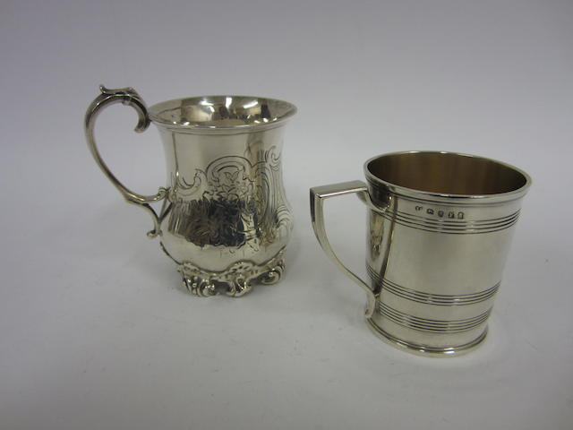 A George III silver christening mug London 1801  (2)