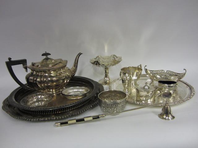 A silver Victorian dish London 1884   (15)