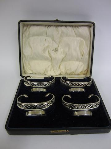 A set of four silver bon bon dishes Chester 1906  (4)