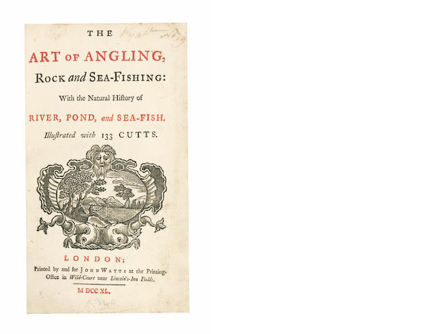 BROOKES (RICHARD)] The Art of Angling, Rock and Sea-fishing, first edition, 1740