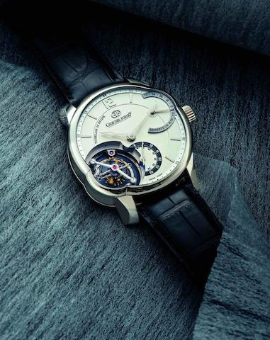 Greubel Forsey. A very fine and limited 18ct white gold manual wind tourbillon wristwatch with power reserve Tourbillon 24 Secondes Incline, Case No.28, Circa 2011