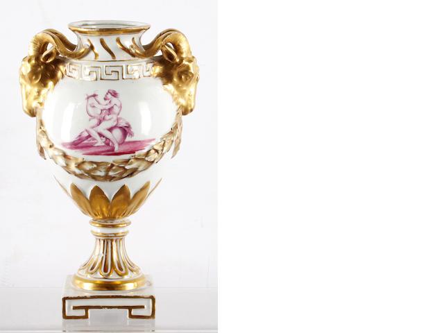 A rare Gotha potpourri vase, circa 1765