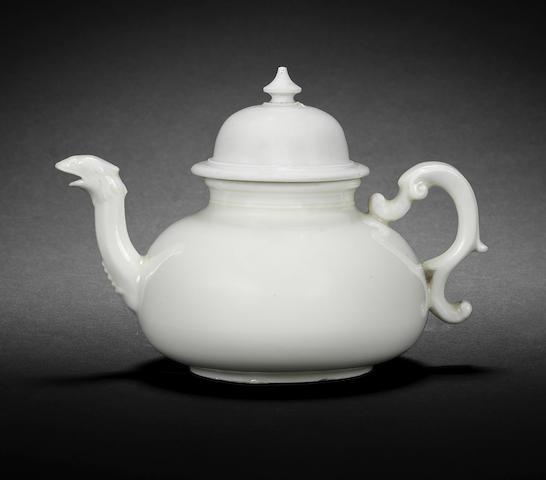 A rare Meissen Böttger porcelain teapot and cover, circa 1715-20