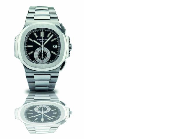 Patek Philippe. A fine stainless steel automatic calendar chronograph bracelet watchRef.5980/1A-001, Case No.4493256, Movement No.4041781, Circa 2010