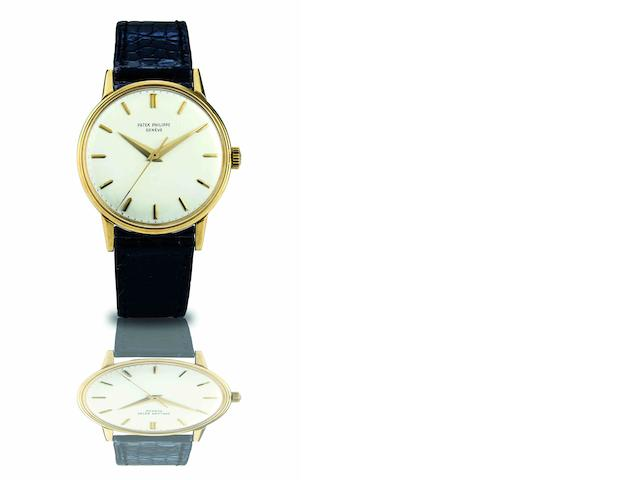Patek Philippe. A fine 18ct gold manual wind wristwatch Ref.3411, Case No.2630269, Movement No.710582, Made in 1963