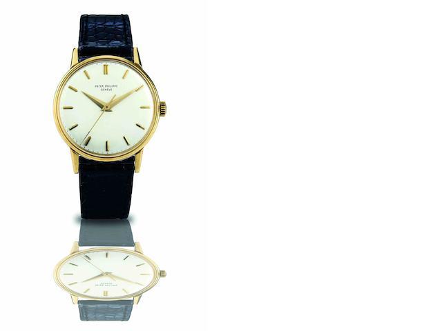 Patek Philippe. A fine 18ct gold manual wind wristwatch Ref.3411, Case No.2630269, Movement No.710582, Made in 1963