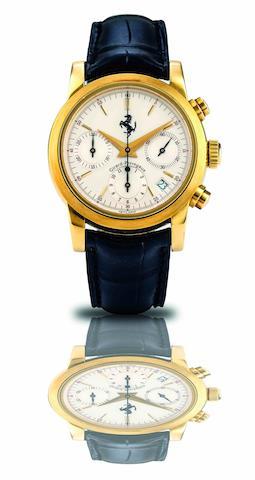 Girard-Perregaux. A fine 18ct gold automatic calendar chronograph wristwatchFerrari, Ref.8020, Case No.243, Circa 1990