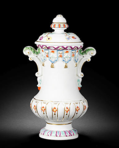 A very rare early Meissen vase, circa 1720-30