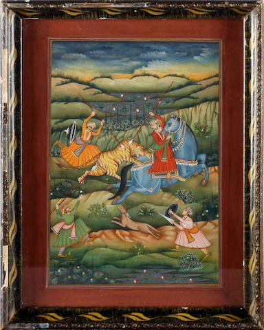Indian School, 20th Century Hunting scene