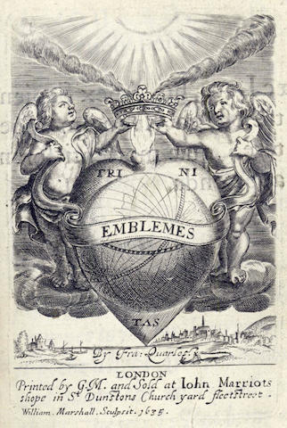 QUARLES (FRANCIS) Emblemes, 2 parts in one vol., first edition, 1635