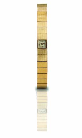 Vacheron & Constantin. A fine 18ct rose gold manual wind lady's bracelet watch Case No.369897, Circa 1970s