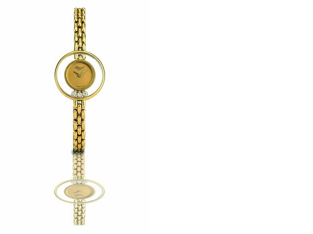 Chopard. A fine 18ct gold and diamond set lady's quartz bracelet watchHappy Diamonds, Ref:G4816, Case No.223427 4082, Circa 1980s
