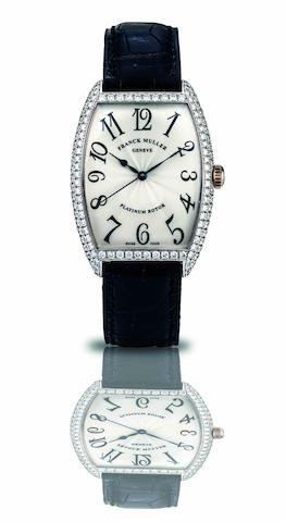 Franck Muller. A fine and rare 18ct white gold and diamond set automatic wristwatch Ref:2852 SC D, Case No.53, Circa 1990s