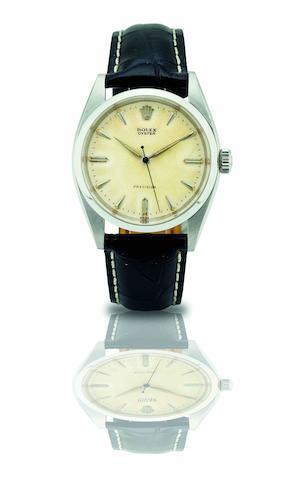 Rolex. A fine stainless steel manual wind bracelet watchPrecision, Ref:6422, Case No.273946, Circa 1943
