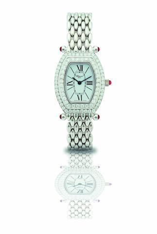 Chopard. A fine and rare 18ct white gold and diamond set lady's quartz bracelet watchLes Classiques, Ref: 10/6560-21, Case No.556574, Circa 2000