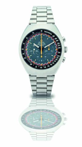 Omega. A stainless steel chronograph manual wind bracelet watchSpeedmaster Professional Mark II, Ref:145.014, Circa 1970