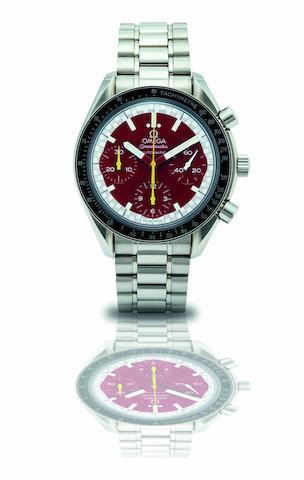 Omega. A stainless steel chronograph automatic bracelet watchSpeedmaster Schumacher, Ref:3510.61.00, Circa 1996