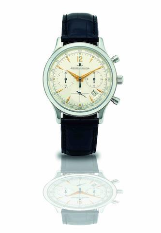 Jaeger-LeCoultre. A stainless steel calendar chronograph quartz wristwatch Master Control, Ref:145.8.31, Case No.1744, Circa 1990