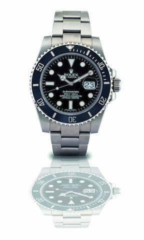 Rolex. A fine stainless steel calendar automatic bracelet watch Submariner, Ref:116610LN, Recent