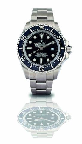 Rolex. A fine stainless steel automatic diver's calendar bracelet watch Oyster Perpetual Date Deepsea, Sea-Dweller, Ref:116660, Recent