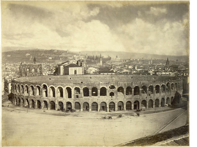 ITALY ALINARI (LEOPOLDO, GIUSEPPE and ROMUALDO) An album of 55 architectural views, [c.1855]