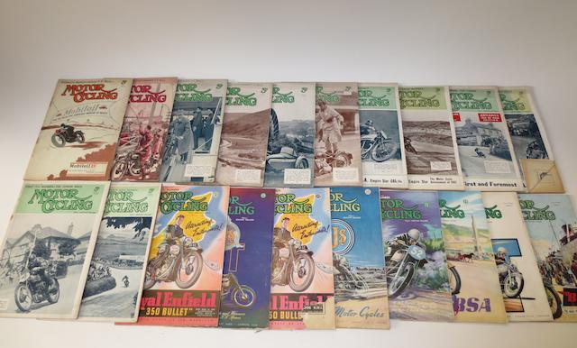 Pre and post-War MotorCycling TT editions,