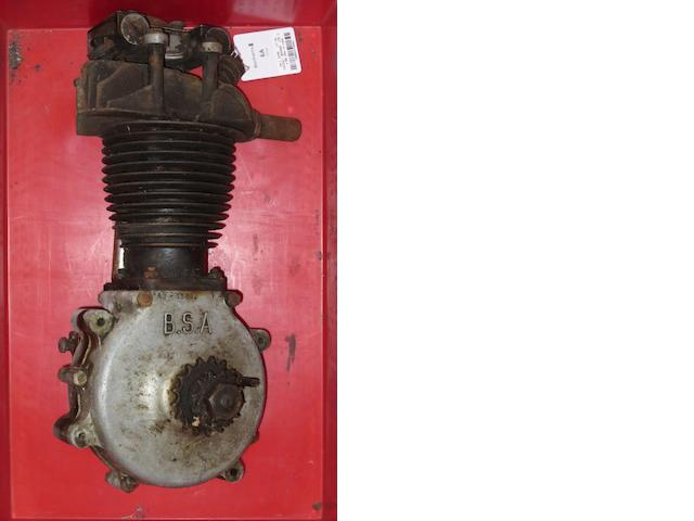 A BSA 250cc ohv engine,