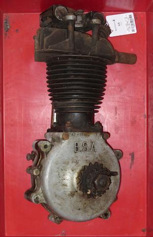 A BSA 250cc ohv engine,