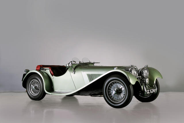 1938 SS100 Jaguar 3½-Litre Roadster  Chassis no. 39065 Engine no. M784E