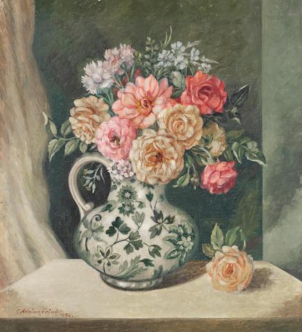 Adrian Feint (1894-1971) Roses in a Spode Jug 1956