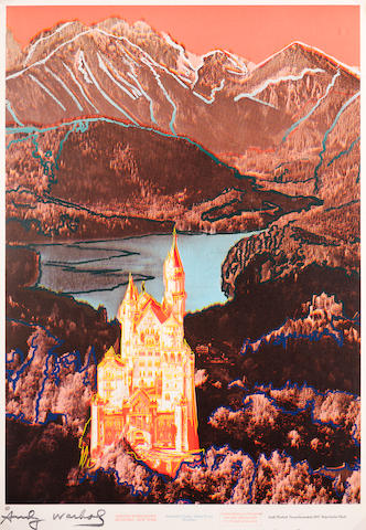 Andy Warhol (American, 1928-1987) Neuschwanstein  Screenprint in colours, 1987, on wove, stamped, from the edition of 1200, published by Schellman New York and Munich??, 905 x 619mm (35 5/8 x 24 3/8in) (SH)