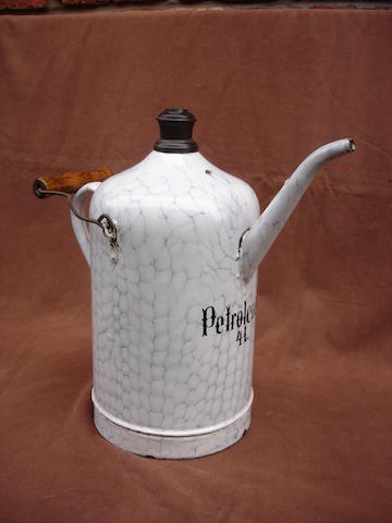 A rare 4 litre petrol priming kettle,