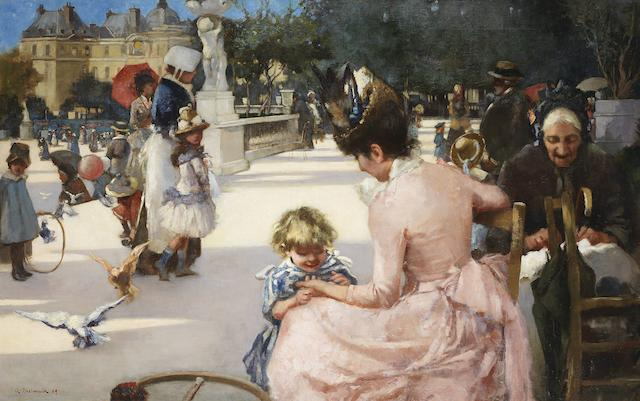 Adolphe Birkenruth (South African, born 1863) Luxembourg Gardens, Paris